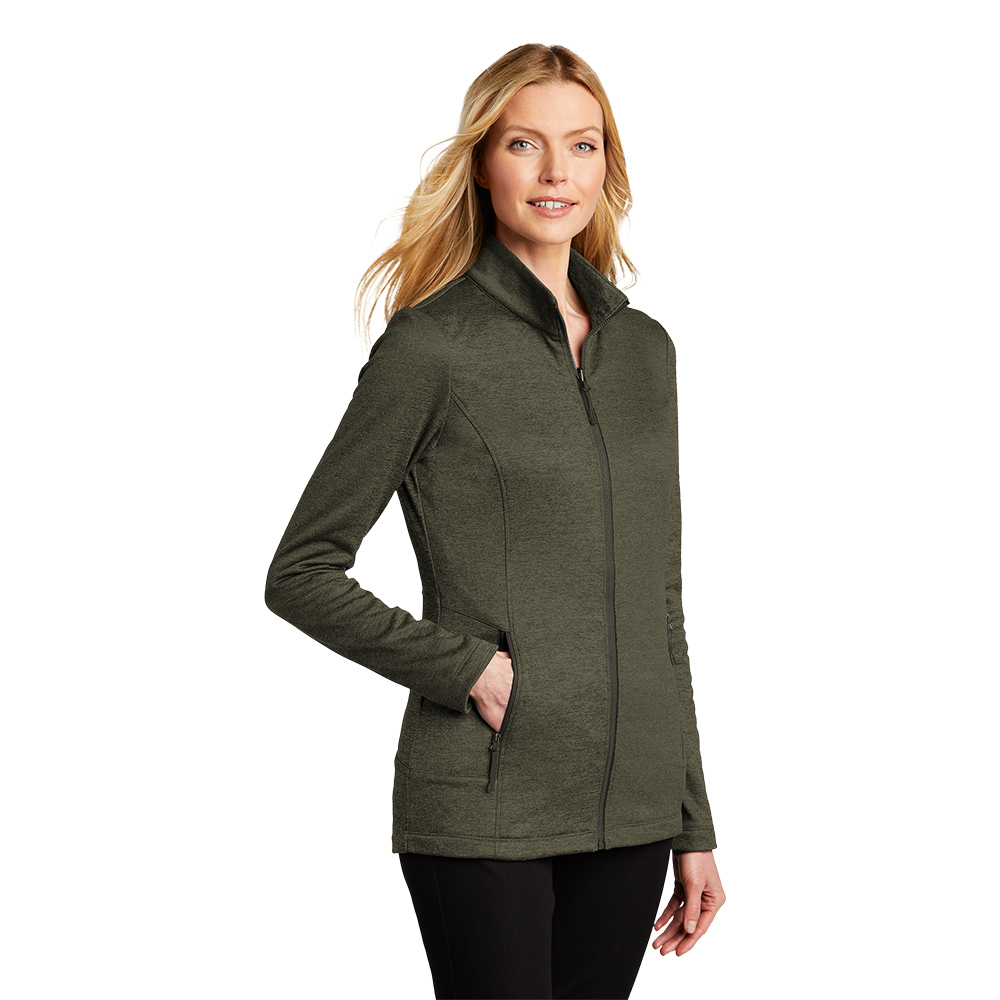 L905-Collective Striated Fleece Jacket